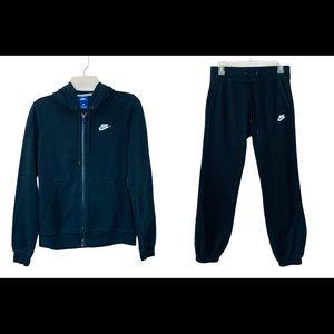 Women's 2 Pc Nike Black Athletic Sweat Suit Sz S